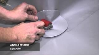 Applicazione di angolo esterno prefabbricato