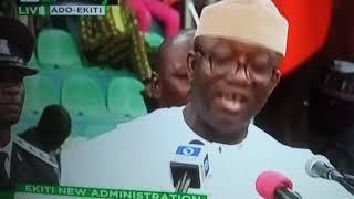Kayode Fayemi Inaugural speech after swearing ceremony