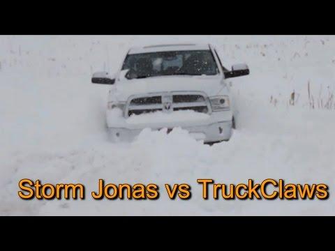 Driving in Winter Snow Storm Jonas