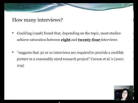 Topic 3 (bi) The Nature of qualitative research