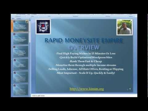 Rapid Money Site Empire Overview PPT Version