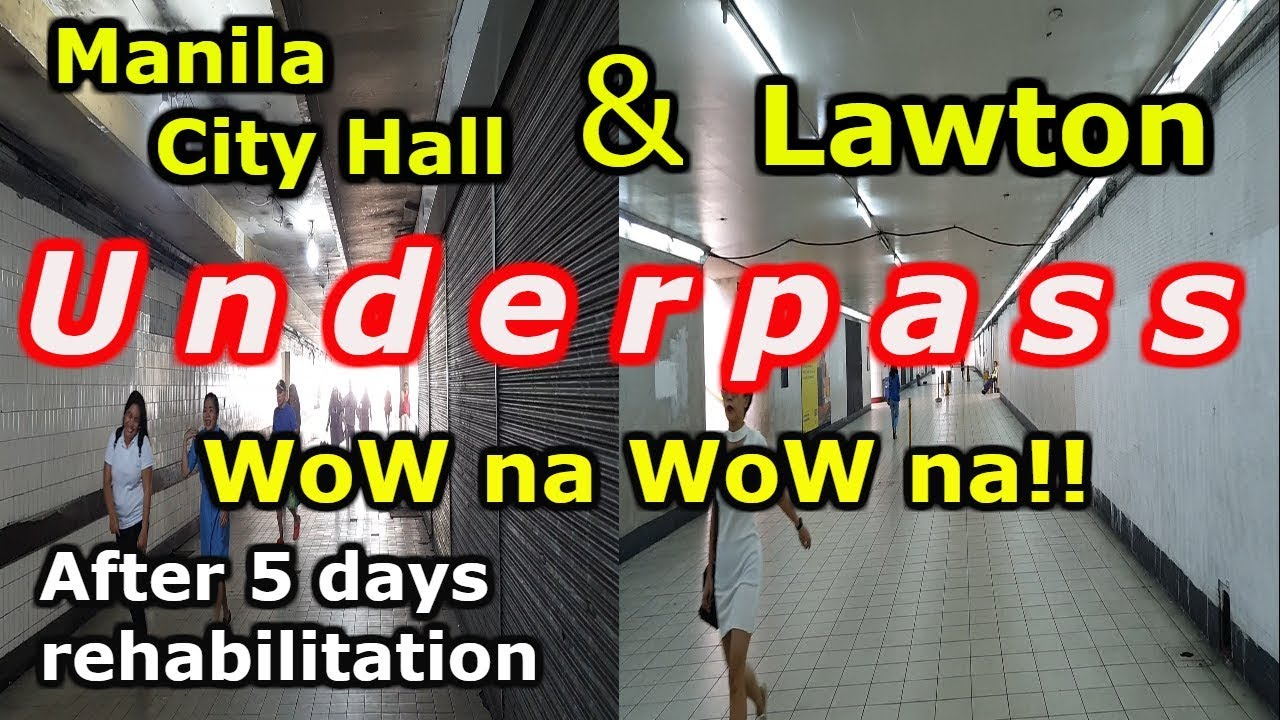 Manila City TWO Underpass Restoration Update as of July 20, 2019. Travel vlog, Tour sightseeing