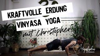 Vinyasa Yoga: Kraftvolle Erdung mit Christopher | 45 Minuten dynamisch | Yogaladen Offenbach