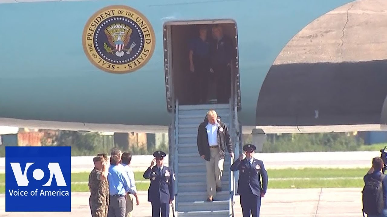 Trump arrives in North Carolina