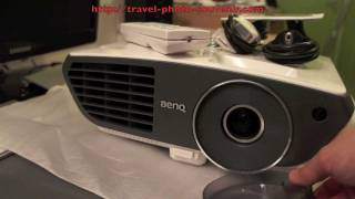 BenQ W700 Video Projector Unboxing and Video Sample PS3 1080p