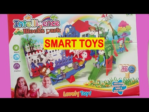 INTELLIGENCE BLOCK PARK ❤ KIDS PLAY TOYS WITH ANIMAL, ROBOT, ZOO ,LEGO