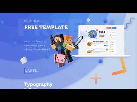 MineCraft Website Template Project   Photoshop Free Download