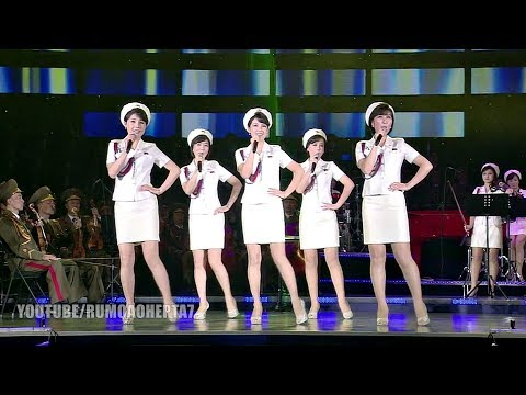 North Korean Moranbong Band - 보란듯이 - With Pride  (English Translation) - Com Orgulho
