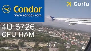 [Onboard] Condor A320-200 D-AICG take-off Corfu Airport [LGKR/CFU] CFU-HAM