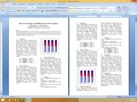 How to Set Two Column Paper for Publication