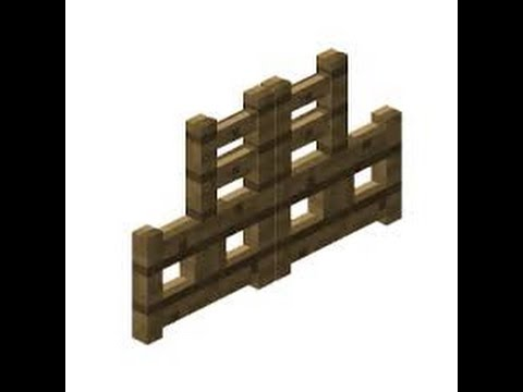 How To Make Fence And Fence Gate In Minecraft Pc 1.8.1