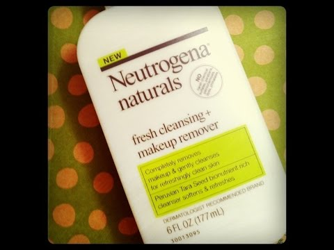 Neutrogena Naturals Facial Cleanser Makeup Remover Demo Youtube