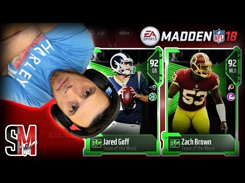 Jared Goff & Zach Brown Week 9 Team of the Week! Madden NFL 18 Pack Opening