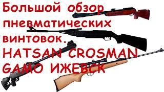 Большой обзор пневматических  винтовок. Hatsan, Crosman, MP-512, Gamo.