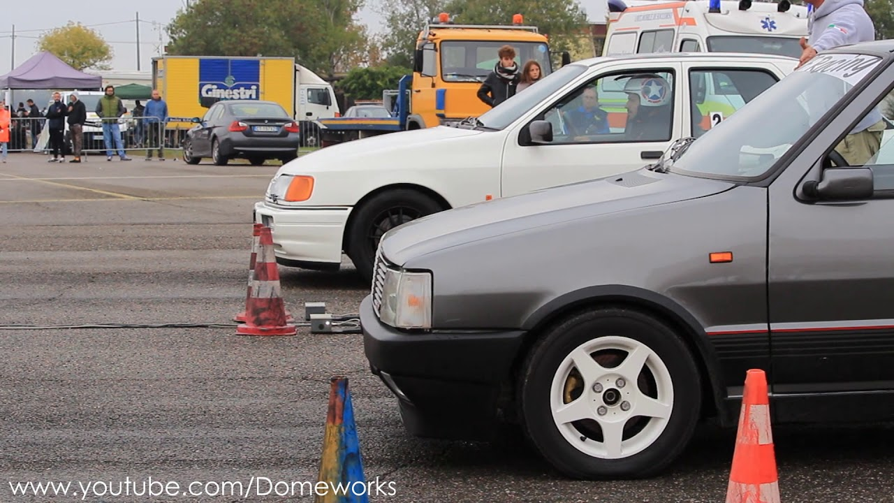 back to 80's] ford sierra cosworth 4wd vs fiat uno turbo 333hp