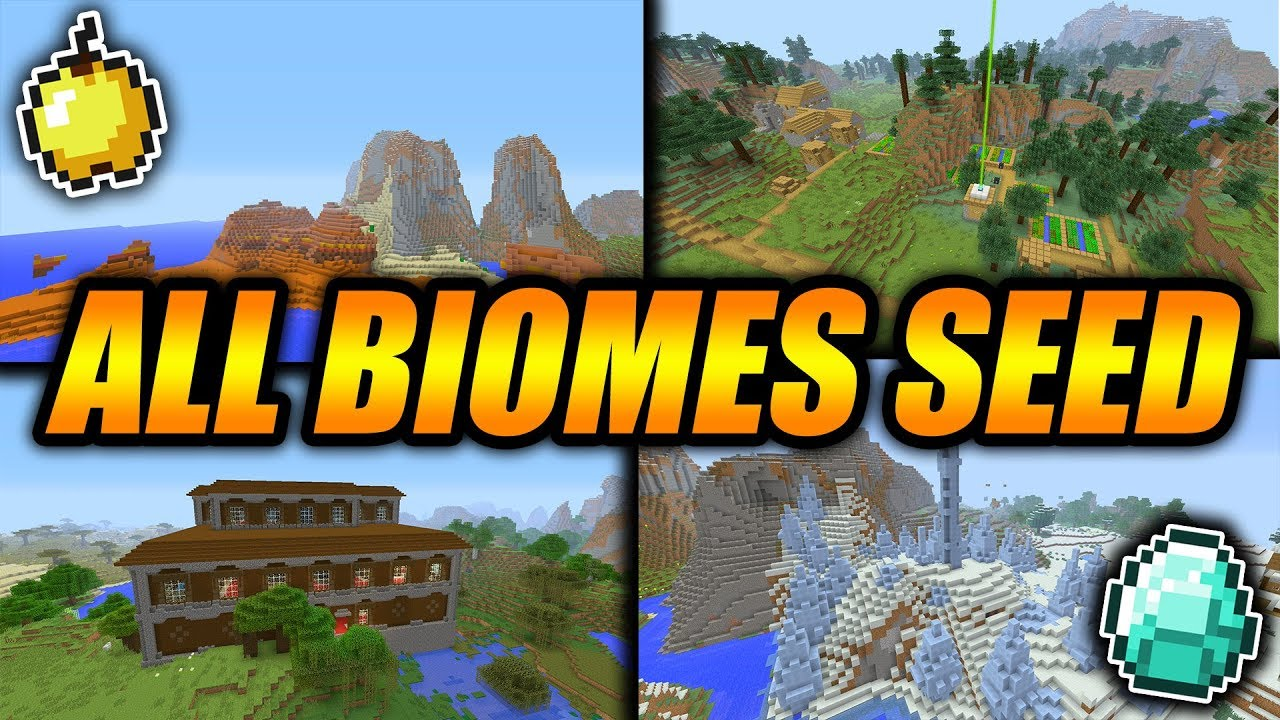 ALL BIOMES AND INSANE LOOT SEED!! - Minecraft Console Edition Amazing  Survival Seed!!