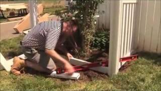 Wambam's Jiminy Picket Vinyl Fence Installation