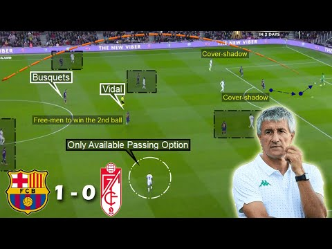 Tactical Analysis of Quique Setien's 1st Game in-charge | Barcelona vs Granada 1-0 | Analysis
