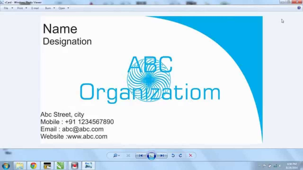 Create Business Card in CorelDraw X7 | Al Jazib VBlogs - YouTube
