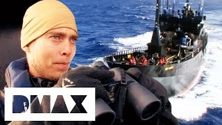The Sea Shepherds Go Head To Head With Whaler Factory Ship | Whale Wars