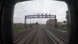 Amtrak Train 172 - Wilmington to Philadelphia Rear View (GoPro)
