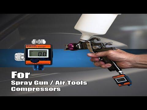 """LEMATEC 1/4""""  Digital Air Pressure Regulator with Pressure Gauge for air tools"""