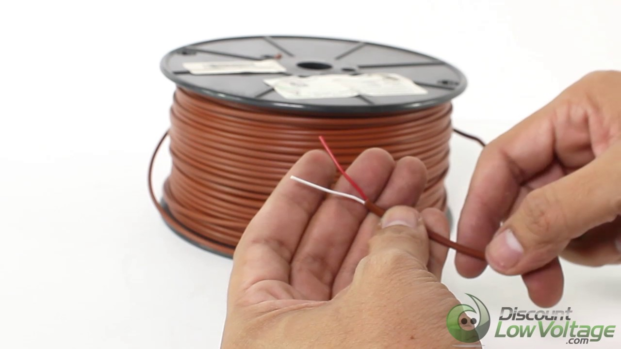 20/2 Thermostat Wire solid bare copper conductor - YouTube