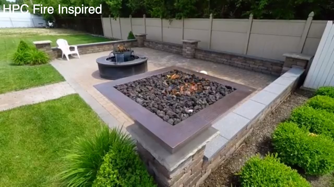 Outdoor Fire Pit Lava Rock