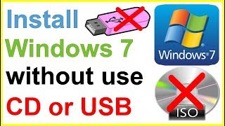 How To Install Windows 7 Without DVD Or USB In Hindi