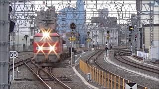 【空コキ3両だけのミニマム編成】城東貨物線・おおさか東線 EF510-11 コンテナ配給列車 平野駅