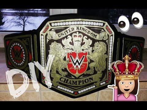 How to make WWE United Kingdom Championship Title Belt