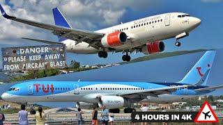 4 Hours of Insane Plane Spotting at Skiathos, the 2nd St Maarten! Low Landings \u0026 Jetblasts [4K 2021]