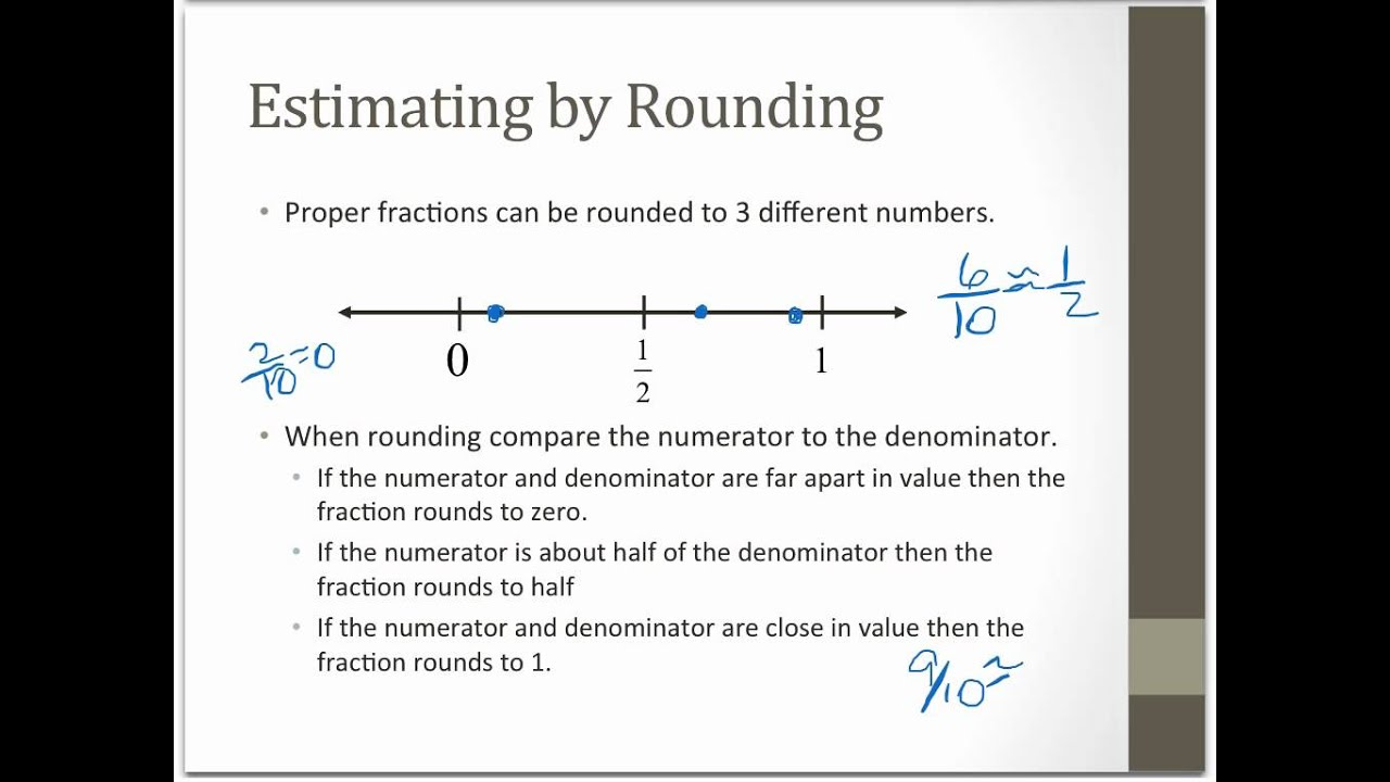 2.1A Estimating Fraction Products - YouTube