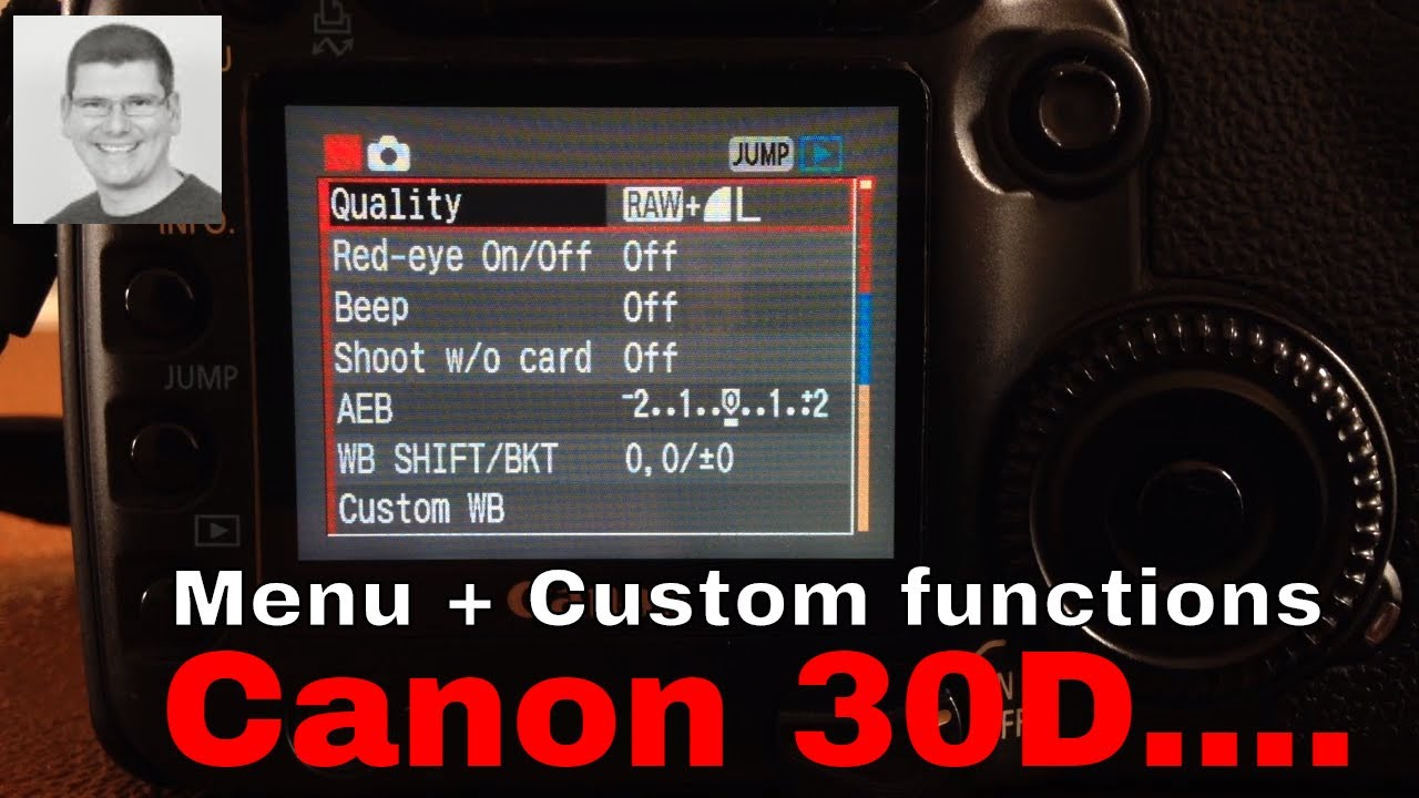 Download Canon 30D Menu settings and custom functions I use