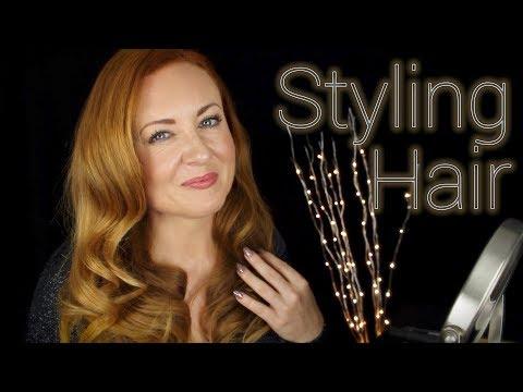 Big Curls Hair Tutorial 🌟 ASMR 🌟 Relaxing Sleep Sounds