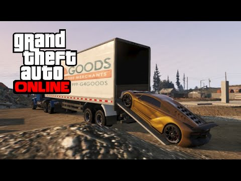 Inside Of A Semi Truck >> GTA 5 Online - How to Haul Vehicles with an 18 Wheeler ...