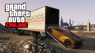 GTA 5 Online - How to Haul Vehicles with an 18 Wheeler Semi Truck