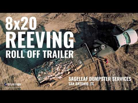 Field Tested: 8x20 Reeving Roll Off Trailer | Texas Pride Trailers