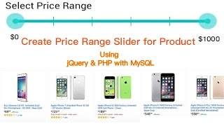 Create Price Range Slider Filter For Product Using jQuery & PHP with MySQL