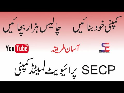 How To Register A Company In Pakistan | SECP Private Limited Company