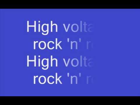 AC DC High voltage with lyrics