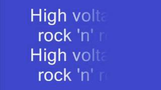 AC DC High voltage with lyrics