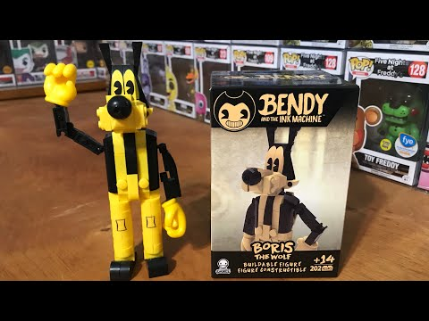 Bendy And The Ink Machine BATIM Boris The Wolf Mini Figure Buildable Set