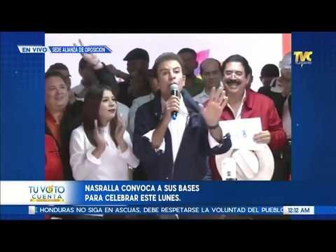 EN VIVO: Salvador Nasralla Nuevo presidente de Honduras.