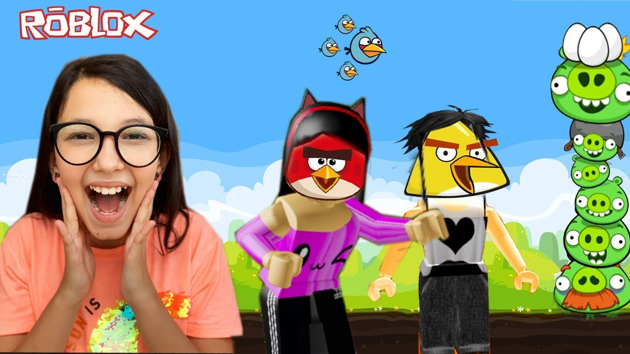Roblox - FUGINDO DOS ANGRY BIRDS (Angry Birds Obby) | Luluca Games