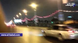 بالفيديو.. كوبرى 6 أكتوبر يتزين بالأنوار احتفالا بافتتاح قناة السويس