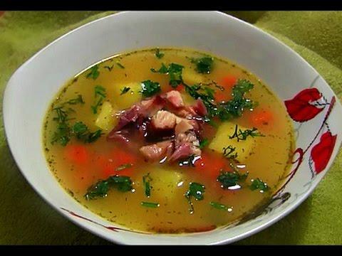 Гороховый суп с копченостями в мультиварке пошаговый рецепт
