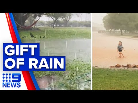 Parts of Queensland receive Christmas drenching | 9 News Australia thumbnail