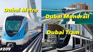 Dubai Metro Tram Monorail | How To Get Atlantis By Dubai Public Transport | Things To Do In Dubai