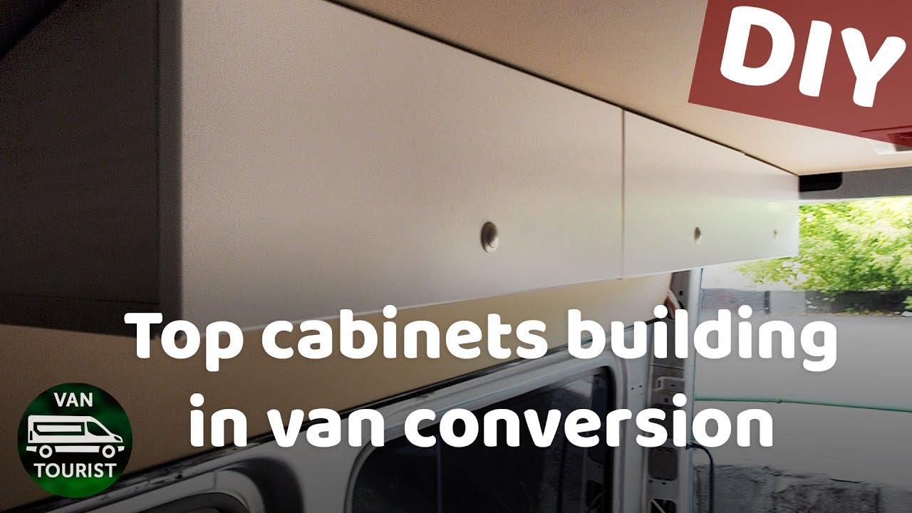 Top Cabinets DIY Building Storage For Van Conversion Sprinter. Do It  Yourself Wooden Cupboards